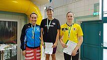 Alexandra Arlt gewinnt die 100m Freistil, Milla Sperlich holt Bronze. (c)Foto:Oehme